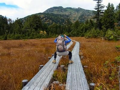 1日目の無邪気だったころ。燧ヶ岳を前にヤマネチ