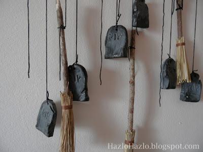 Cómo hacer un móvil para decorar en Halloween.