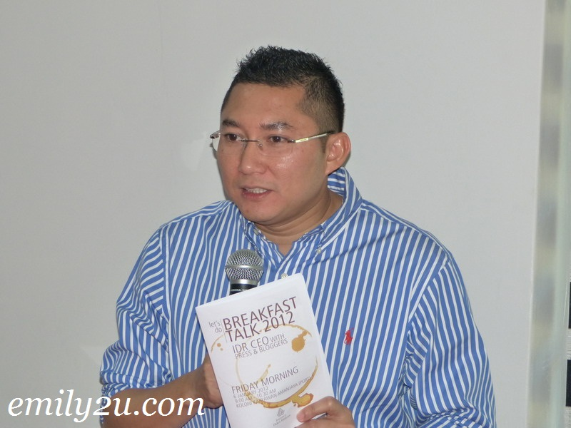 Breakfast Talk 2012 With IDR CEO