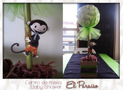 centro de mesa babyshower changuito