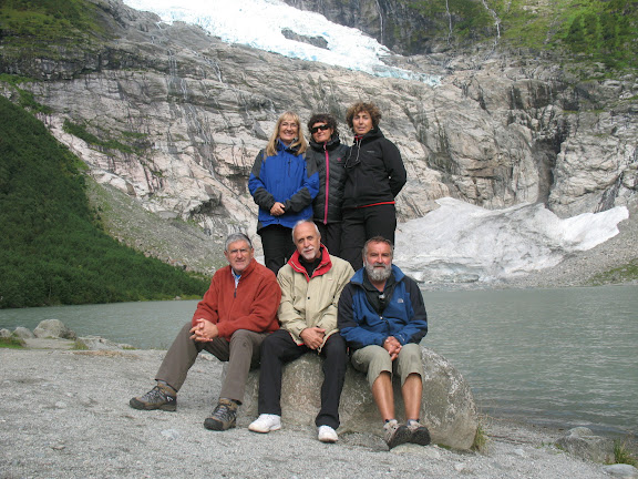 Grupo en el glaciar de Jostedal