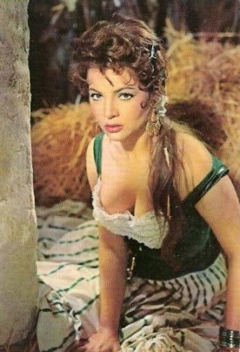 """Sara Montiel en """"Veracruz"""", protagonizada por Gary Cooper"""