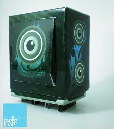 BassBox Paper Toy