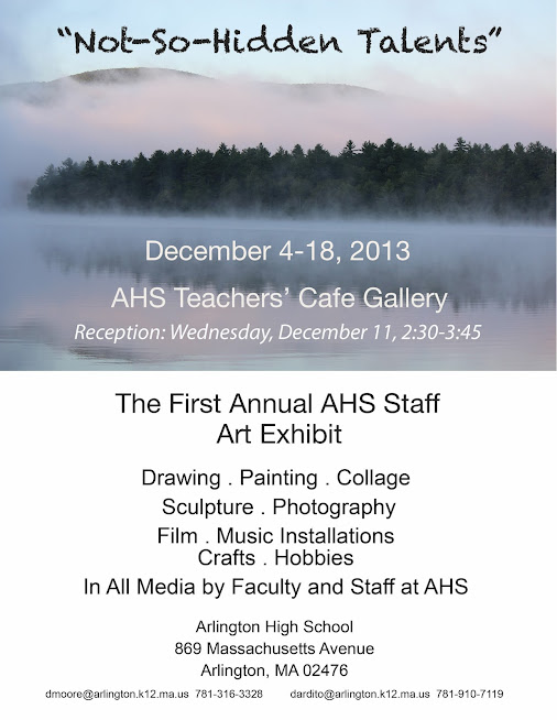 Reception today for first AHS staff art exhibit