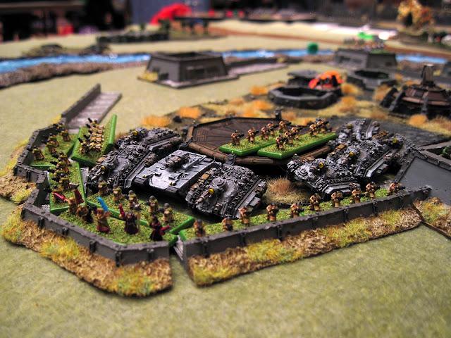 Guard take the landing pads.