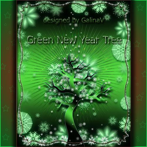 PSD-исходник - Новогоднее дерево