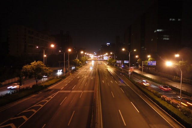 Beijing 2nd Ring Road at night
