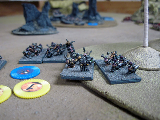 Chaos Marines drop in.