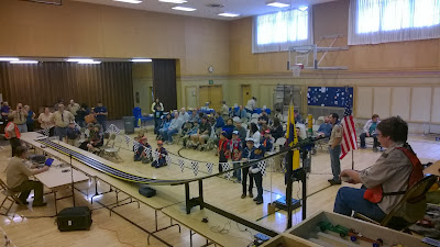 Pinewood Derby about to begin