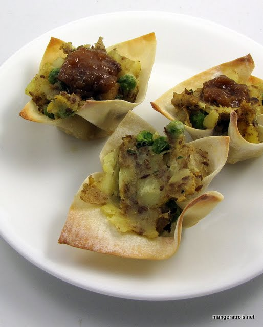 Potato Samosa Cups