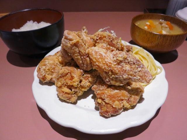 若鶏の唐揚げ定食