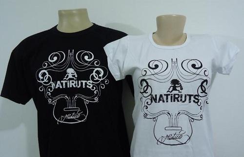 Camisetas personalizadas da banda Natiruts por Aldo Morais
