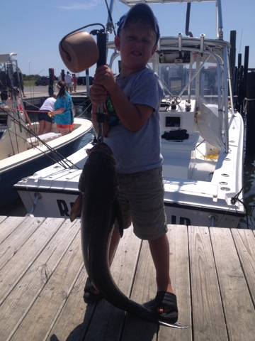 Rock Solid Fishing Young Fred Four Years Old Gets First