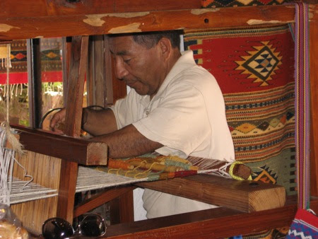 Zapotec weaver in Zihuatanejo, Mexico