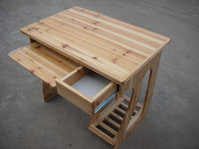 meja laptop kayu
