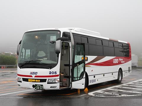 京王電鉄バス 長野線 PS仕様車 K51205 横川サービスエリアにて