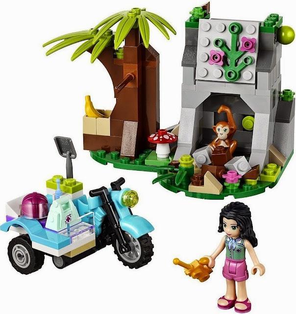 Hình ảnh sinh động đẹp mắt của bộ đồ chơi xếp hình Lego Friends 41032 First Aid Jungle Bike