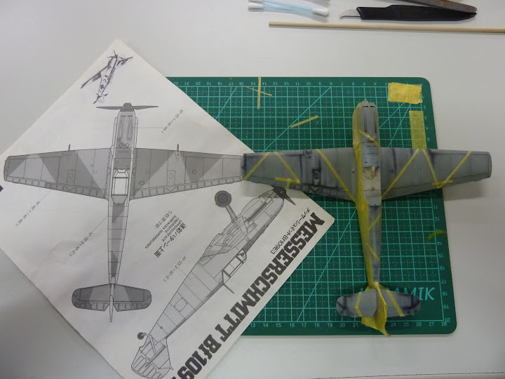 Bf-109 E-3 Tamiya 1/48 - Reforma pintura P1020483