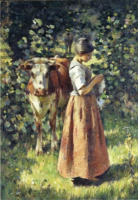 Theodore Robinson - The Cowherd