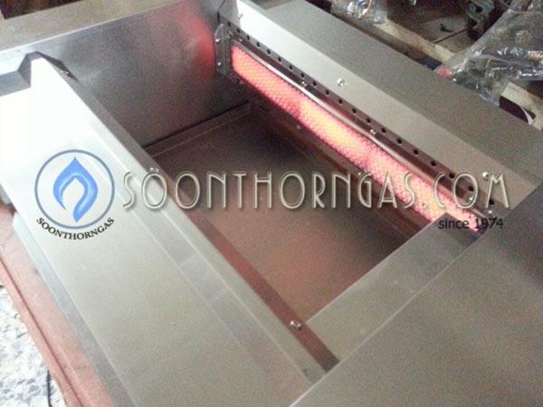 การแผ่รังสีความร้อน ของหัวเตาย่างแก๊สไร้ควัน SUNSHINE รุ่น SH-BG708