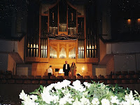 Mariangeles Sánchez Benimeli with organist Michael Grill