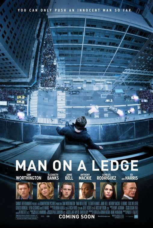 Poster Of Man on a Ledge (2012) Full Movie Hindi Dubbed Free Download Watch Online At Alldownloads4u.Com