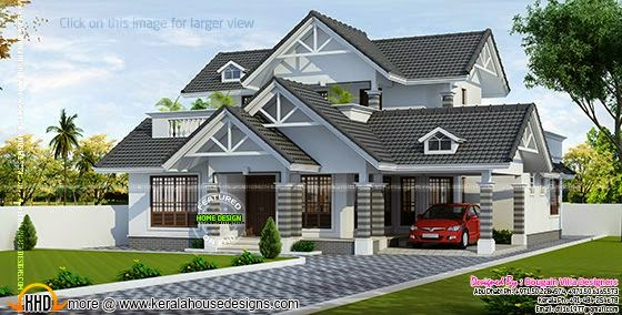 2480 sq-feet elegant house
