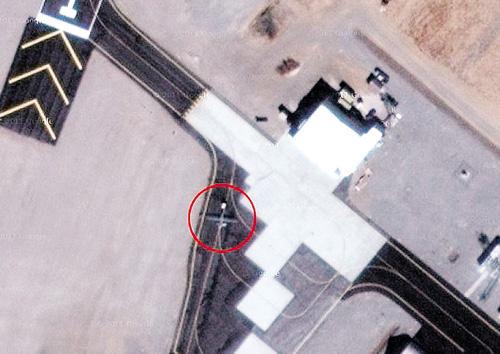 Gambar sebuah pangkalan rahsia tentera Amerika dikesan oleh komputer Google Maps melalui satelit