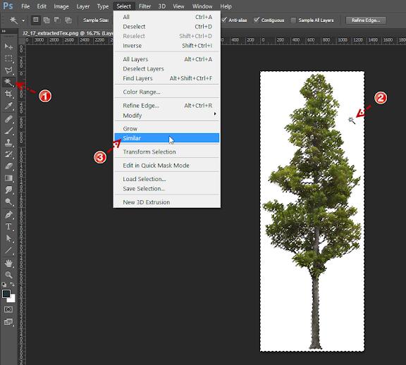 การกำหนดค่า Material ของต้นไม้แบบ 2D ให้มีความโปร่งใส Vraytree07