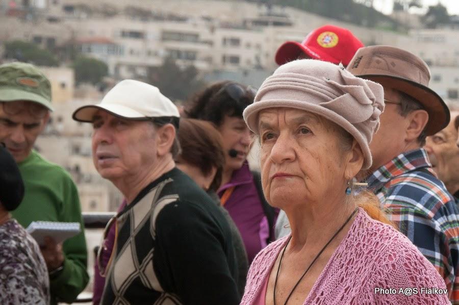 Туристы в Израиле. Экскурсия в Иерусалиме Светланы Фиалковой.