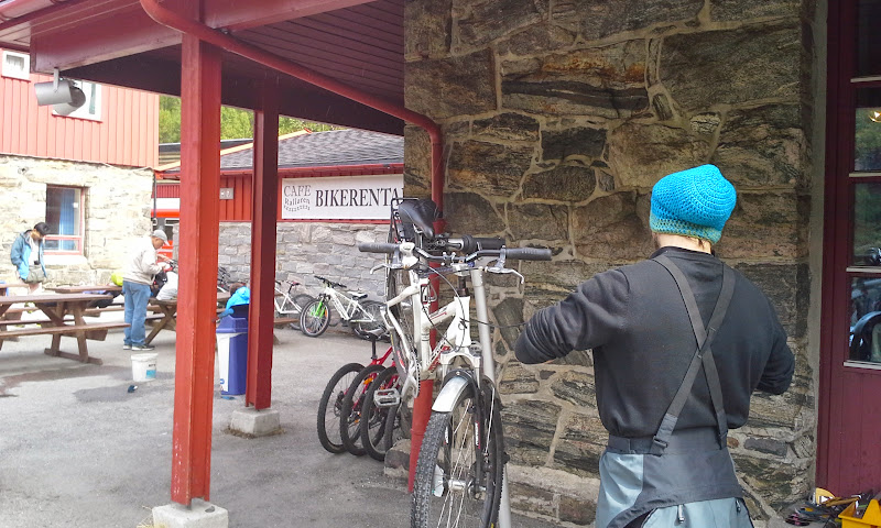 bike rental at Myrdal station