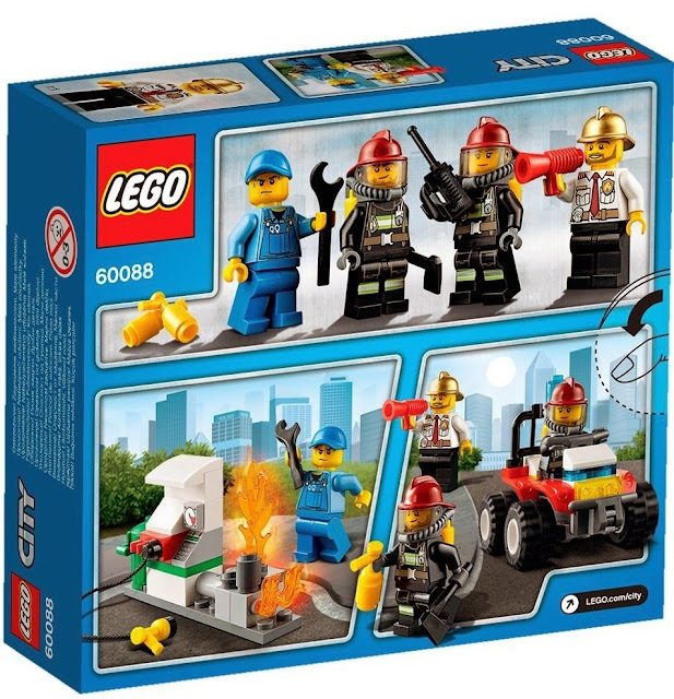 Đồ chơi Lego 60088 Khởi đầu cứu hỏa Fire Starter Set được làm từ chất liệu nhựa cáo cấp