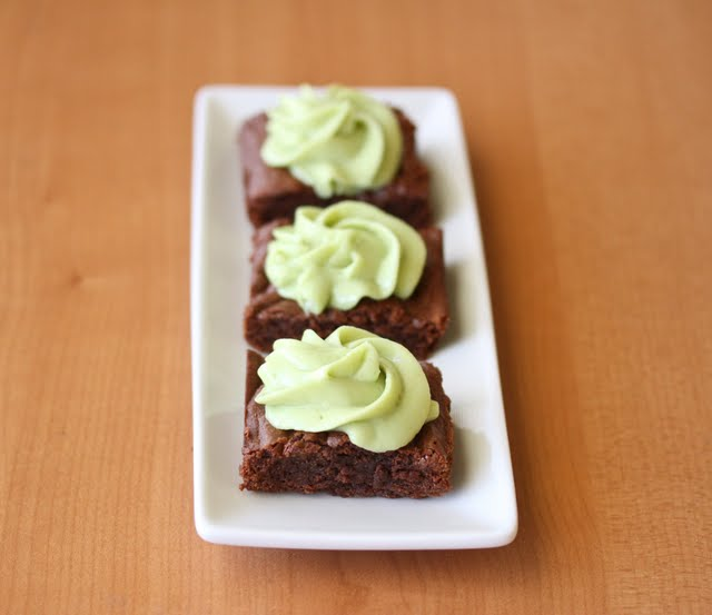 close-up photo of avocado brownies