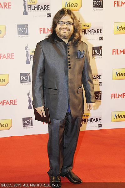 Music director Pritam arrived at the 58th Idea Filmfare Awards 2013, held at Yash Raj Films Studios in Mumbai.Click here for:<br />  58th Idea Filmfare Awards