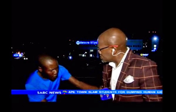 SABC contributing editor mugged on camera