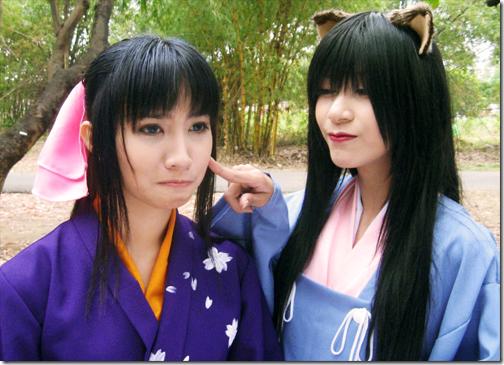 rurouni kenshin cosplay - kamiya kaoru and takani megumi by loon2x and opiumqueen