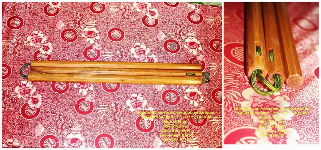 Bán Côn Nhị Khúc INOX Gỗ Quý Mun Trắc - nunchaku - nhikhuccon - 093.493.27.37 - 12