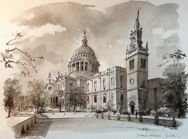St Pauls Cathedral drawing
