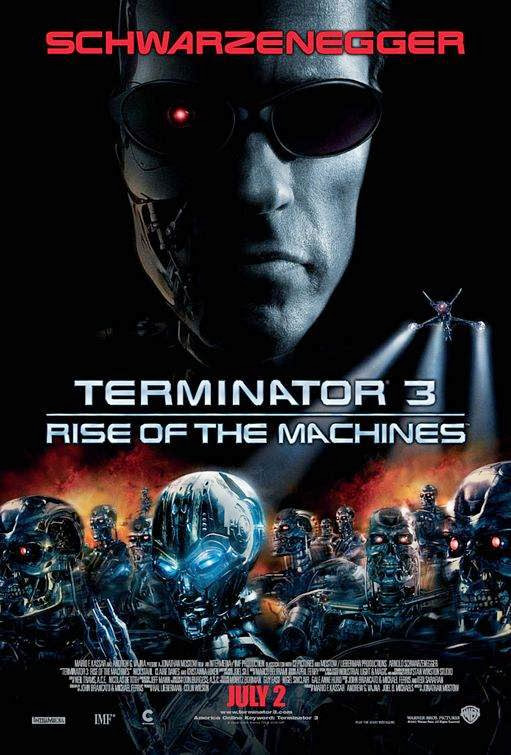 Poster Of Terminator 3: Rise of the Machines (2003) Full Movie Hindi Dubbed Free Download Watch Online At Alldownloads4u.Com