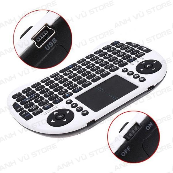 Mini Keyboard UKB-500-RF - Bàn phím kiêm chuột không dây dùng cho Android TV Box, Smart TV 02