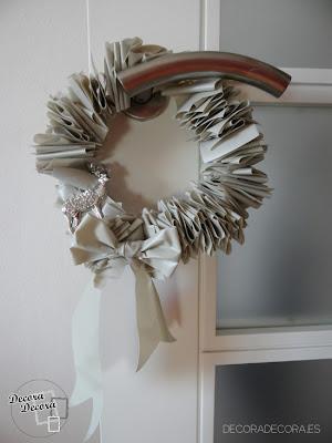 Corona de Navidad hecha a mano.