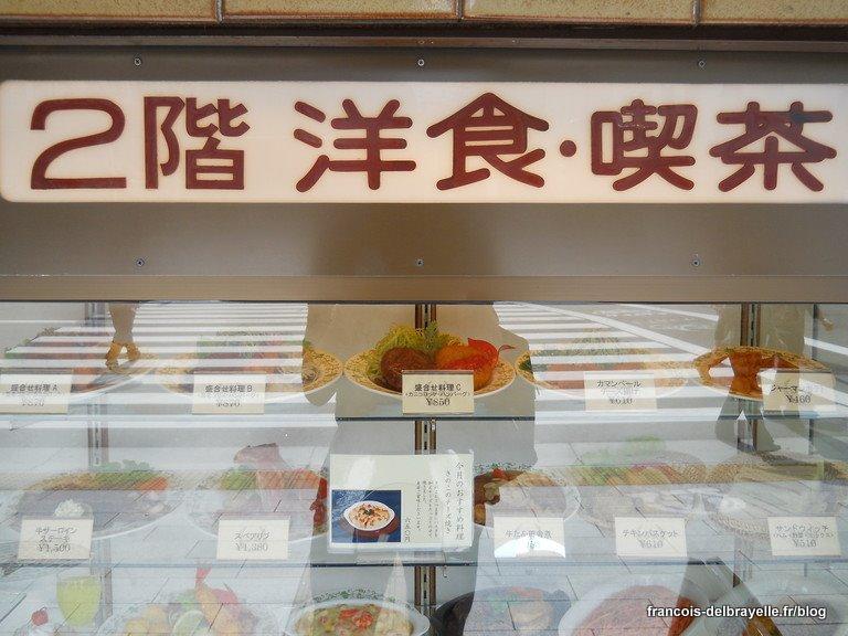 Faux plats en vitrine à Asakusa