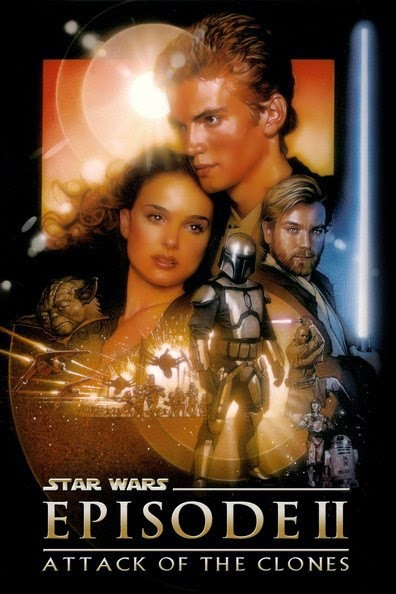 Poster Of Star Wars: Episode II - Attack of the Clones (2002) Full Movie Hindi Dubbed Free Download Watch Online At Alldownloads4u.Com