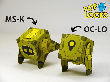 OCLO MSK Poplock Paper Toy