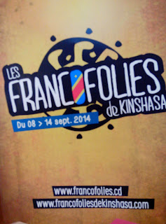 """L'affiche du Festival """"Les Francofolies de Kinshasa"""". Ph/ Drtoits Tiers."""