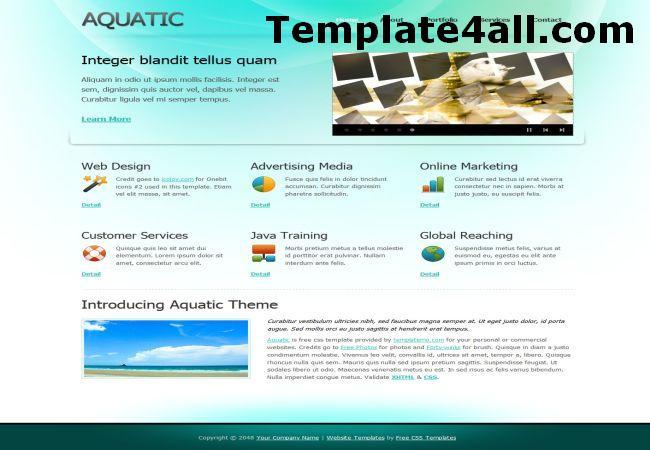 Aqua Blue Business CSS Website Template