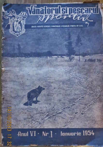 1 – Vanatorul si Pescarul Sportiv – 1954 – Ianuarie Nr. 1 Anul VI