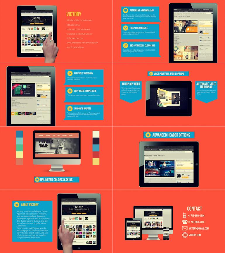 Flat Website Presentation - 2