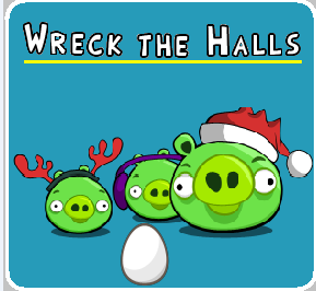 Angry Birds Wreck The Halls - Angry Birds Wreck The Halls poster