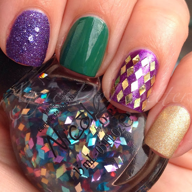 Aggies Do It Better: Mardi gras/ Fat Tuesday Nails!